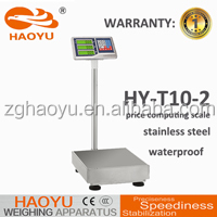 haoyu digital scales waterproof, platform weighing scale 300kg CCC CE certified