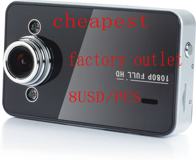 "K6000 HD car security camera 8.9usd/pcs k6000 car dvr camera K6000 2.7 "" Display <strong>1080p</strong> vehicle car camera dvr video recorder"
