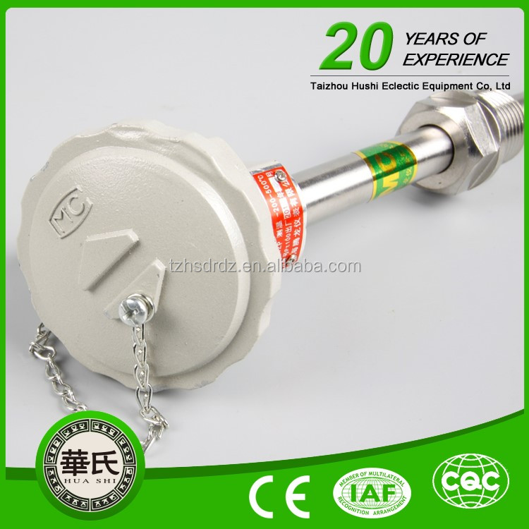 Huanya Fast Response R Type Thermocouple With Connection Head