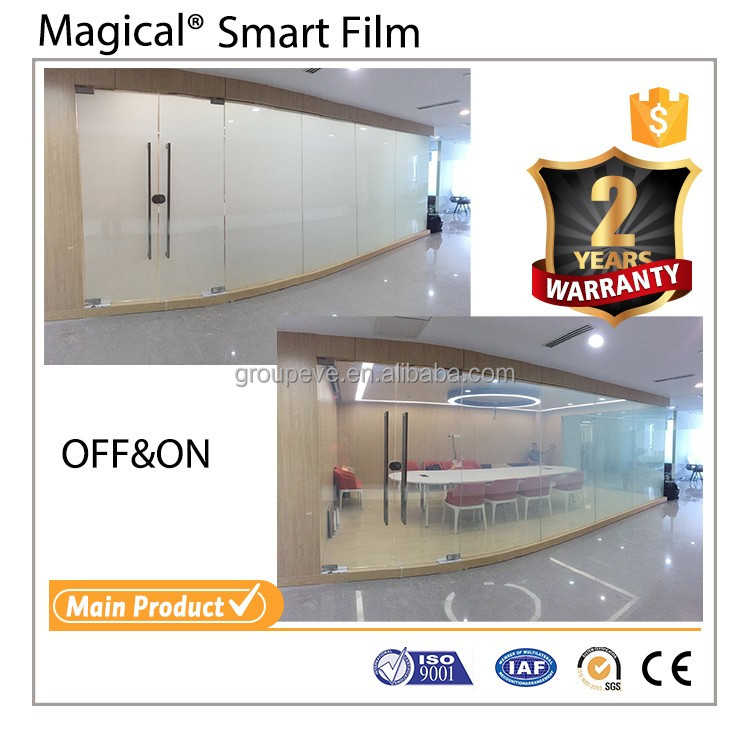 High-Tech Static Cling Automatic Smart Film For office Privacy