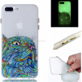 glow in the dark printing TPU with button back cover case for iphone 7 plus
