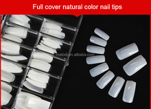 500pcs per box acrylic natural color artificial nail tip