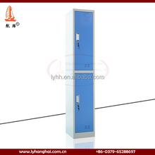 Cheap chinese furniture 2 tiers colorful cube sports narrow storage cabinet metal valuables locker