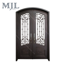 Wholesale China Welded Cast Designs Grill Double Door Cheap Wrought iron gates