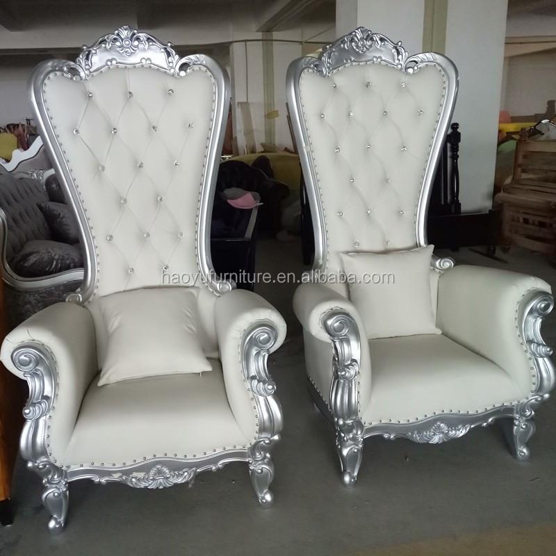 LC92 prata cadeira do trono, cadeiras trono de ouro, barato cadeira do trono do rei