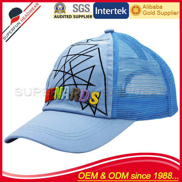 New style 3D embroidered mesh trucker ball caps