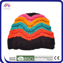Gorgeous Striped Knitted Beanie Hat For Children