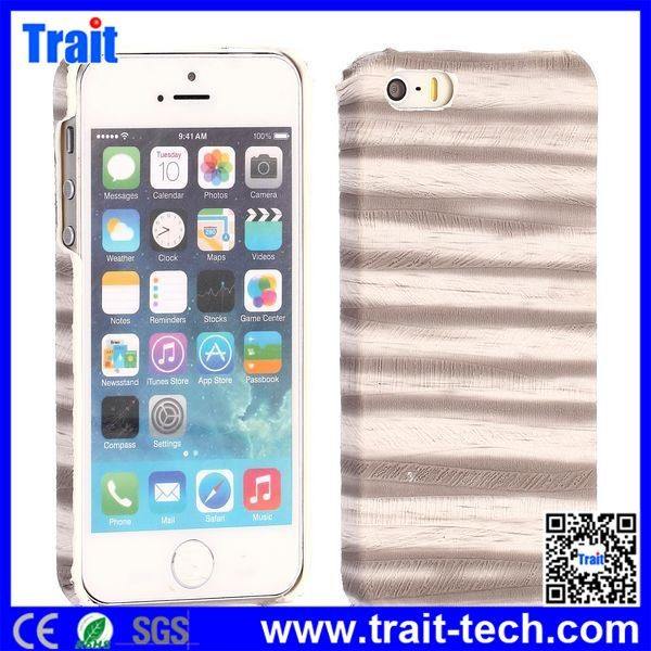 Stylish Painting Ripples Texture PU Leather Coated PC Hard Cover Case for iPhone 5/ 5S,Case For iphone
