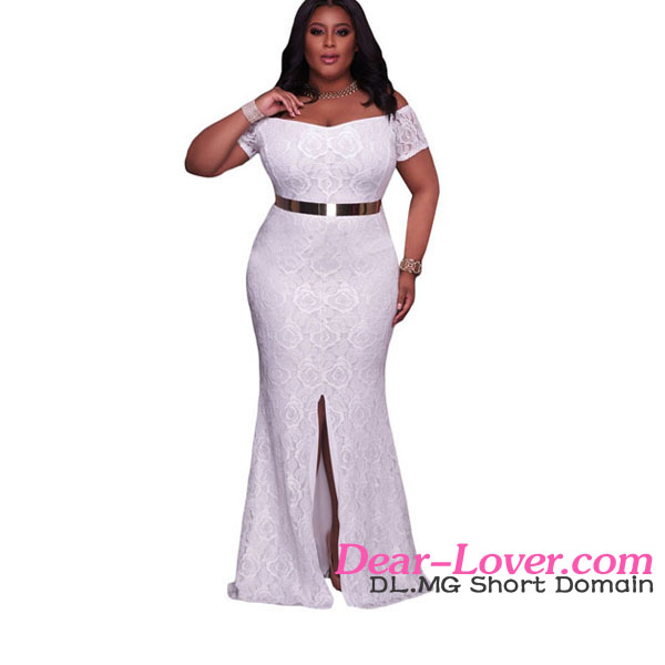Latex India White Plus Size Off Shoulder Gowns Evening Wear Buy