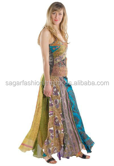 indian silk vintage skirts wholesale price vintage sari skirt