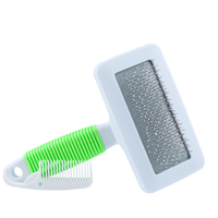 High Quality Pinkycolor Cleaning Product Plastic Pet Hair Removal Dog Slicker Brush with Small Comb