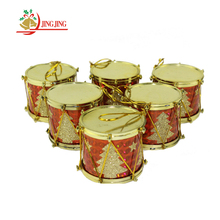 Yiwu Manufactory Cheap Xmas Hanger Tree Ornament Decorative Plastic Christmas Drum Decoration