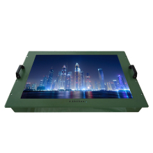 32 inch open frame military LCD monitor IP65 support 5-wire analog resistive touchscreen