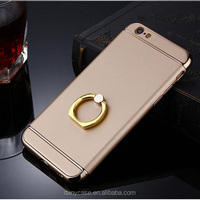 3 in 1 Plastic material phone case with 360 rotating ring holder hard shell for iphone6 6plus
