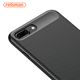 Feisman Shock Proof Phonecase, Carbon Fiber Design Soft Rubber TPU Mobile Phone Back Cover Case for Apple iPhone X 8 7 6S Plus