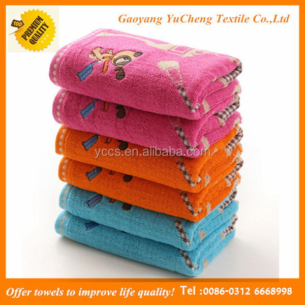 cute China suppliers cotton thick embroidery soft baby towel