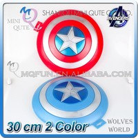 MINI QUTE 30 cm 2 color selectable marvel action figures The avenger hero Captain America shield brinquedos boys NO.MQ 055