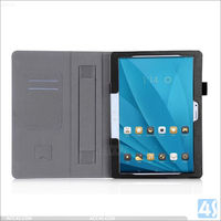 PU leather flip cover for huawei mediapad m2 smart cover with hand strap