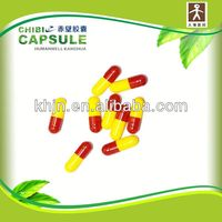 all sizes and colors gastric coated red and yellow capsule