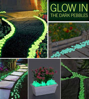 garden supplies glow in the dark pebble stone