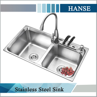 K-7943 stainless steel wash basin/ stainless steel utility sink/ kitchen sinks stainless steel double