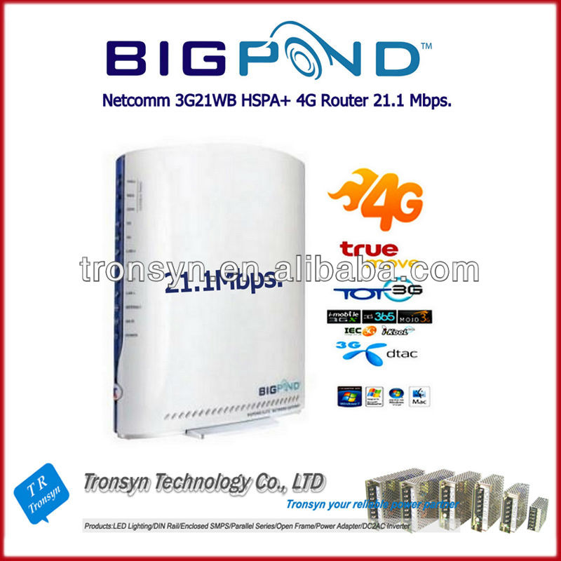 Original Unlock 21.6Mbps BigPond 3G21WB HSPA 3G Wireless Router Sim Card Slot Bulit-In Ethernet RJ45 Port
