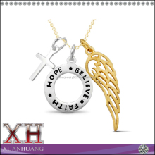 """Hope,Faith,Believe"" Cross Charm Necklace"