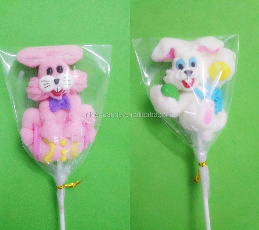 pink love rabbit cute animals marshmallow lollipop white angle rabbit sweets pop cotton candy