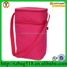 2015 light pink messenger insulated 6 beer bottle carrier tote