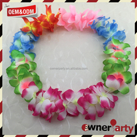 Tropical Hula Grass Dance Party Decoration Hawaii Floral Garland