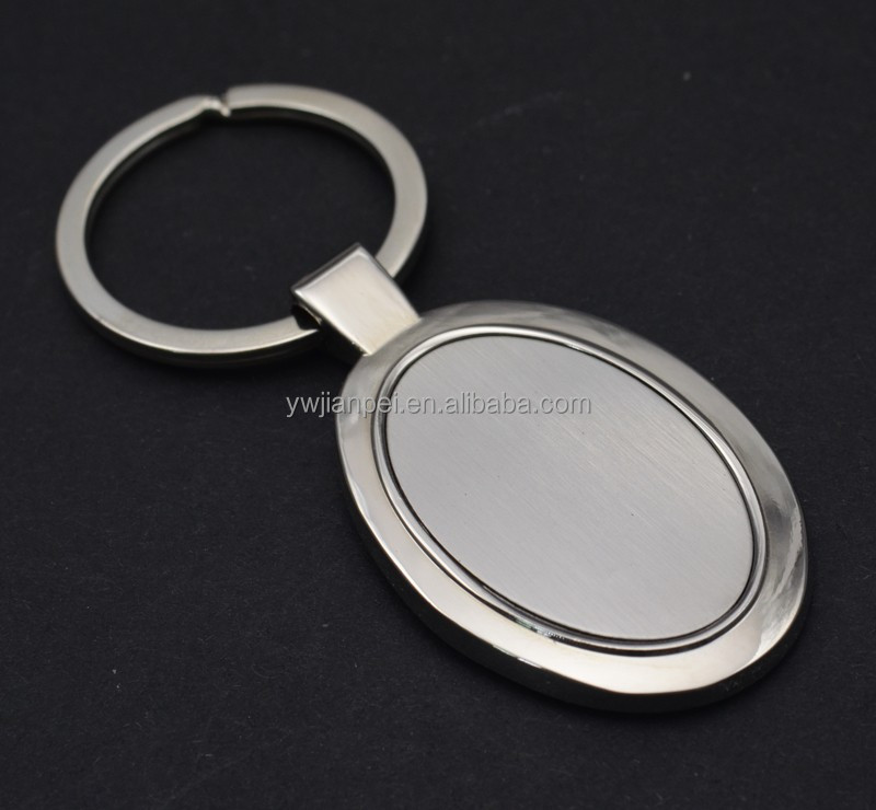 Cheap Oval shape Promotion Blank Keychain with customized logo