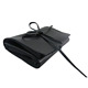 Black PU Leather Pockets Cosmetic Makeup Brush Hand Bag Wholesale
