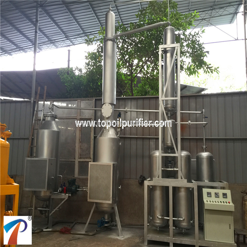 Waste engine oil recycling machine/black oil recycling/vacuum distillation,environmental friendly and high recycling rate
