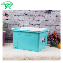 High quanlity Home Living lidded Plastic Storage Organizer Clothes Storage Box Container With wheels