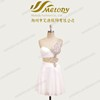 White chiffon bodycon beaded pleated one shoulder dancing italian cocktail dresses