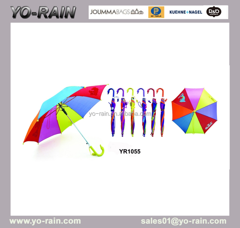 cheap price bright colored kid umbrella