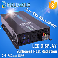 12V DC to 220V AC Full Power 2500W Peak Power 5000W Can Run Air Conditioner Pure Sine Wave Inverter
