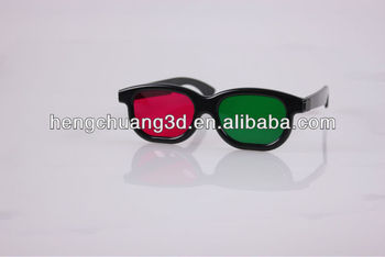 Hot sell Red and green 3d glasses for magenta green 3d videos