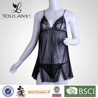 Top Selling Polyamide Fibre Polyester Mature Sexy Sleepwear For Women