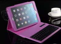 Removable Keyboard Tablet 2 in 1 Bluetooth Fingerboard Leather Cover For iPad Mini 2/3/4