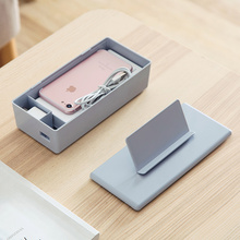 Desktop remote control phone storage box cosmetic box home multi - purpose plastic portable finishing box