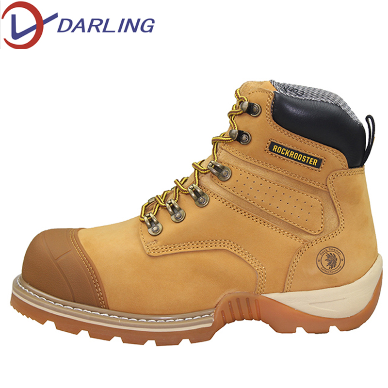 SRC goodyear work steel toe cap safety boots S2 nubuck leather waterproof mining industrial safety shoes