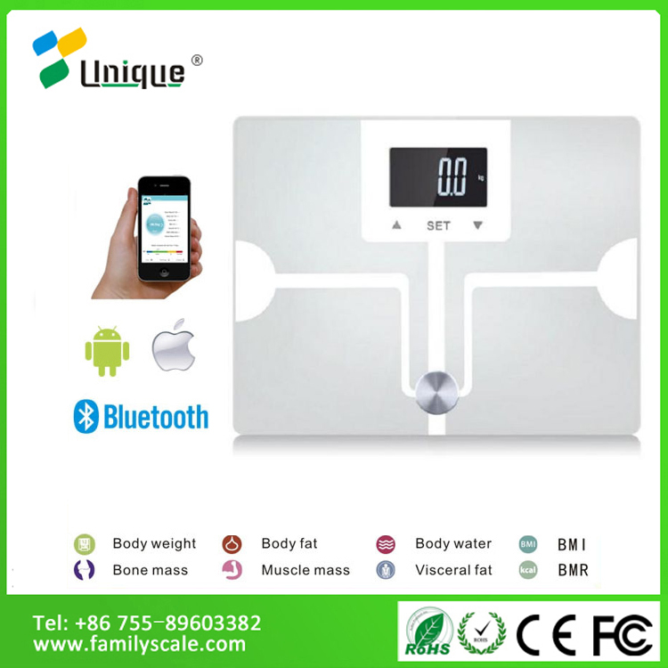 WIFI Small 200kg 40kg Hardness Counter Antique Accurate Body Electronics Diet Platform Digital Glass ce Bathroom Salon Scales