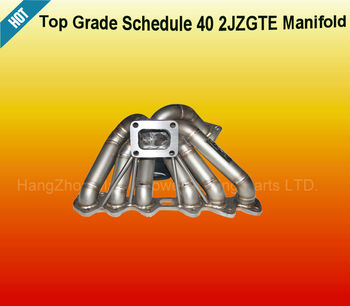SCHEDULE 40 PIPE TWIN TURBO TURBOCHARGER MANIFOLD FOR 93-98 TOYOTA SUPRA MK4 2JZGTE JZA80 (Fits: Toyota Supra)