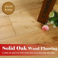 High Quality competitive prices Solid Wirebrushed waterproof Oak hardWood Russian White Oak Flooring