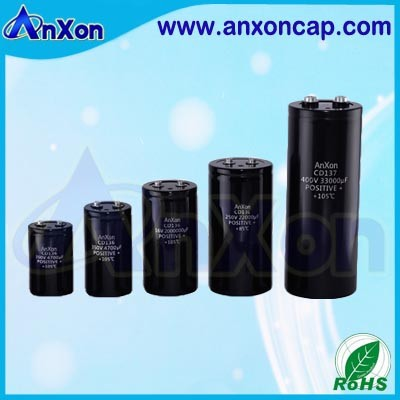 Screw Terminal Electrolytic Capacitor 400V 820uF 2000 Hours 85C Aluminum large can capacitor 400V 820MFD