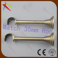 Aluminium metal fixed Single Curtain Rod Drapery cup Bracket for 35mm rod
