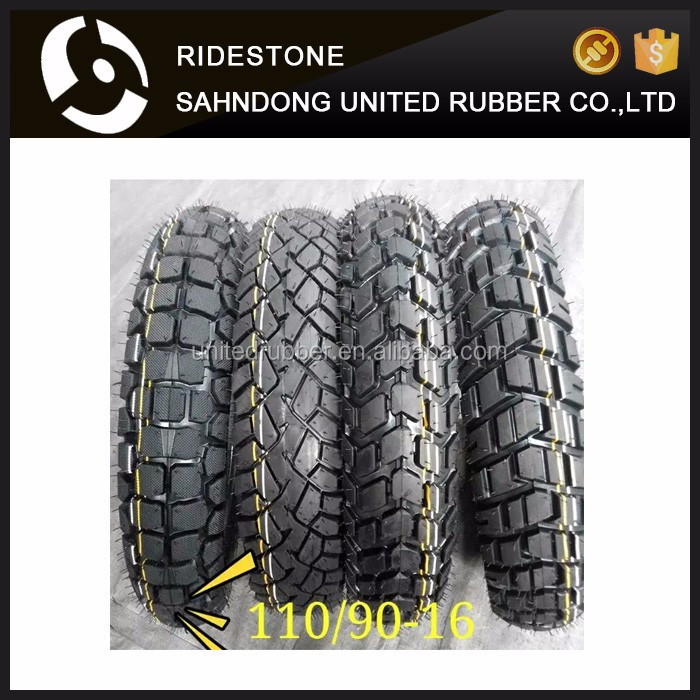 Good Quality Natural Front Motorcycle Tire 100/90-16 110/90-16