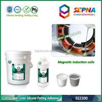SI2200 high temperature silicone potting rubber glue used in Magnetic induction coils potting