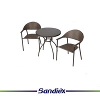 Sandiex 2017 Outdoor aluminium wicker sofa set rattan furniture